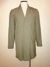 Marc By Marc Jacobs Mens Olive Khaki Classic Fall Trench Coat Size S Raw Edge
