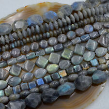 "Natural Labradorite Flat  Beads 15.5"" pick Shape"