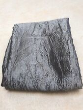 Grey shiny crushed taffeta material remnant crafts fabric 120x110cm