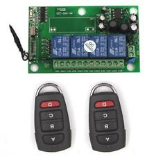 85-240V 220V 4CH Channel Relay Wireless RF Remote Switch 2 Transmitter+Receiver