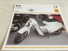 Carte moto Rumi scooter 125 scoiattolo 1953  collection Atlas motorbike Italie