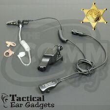 HAWK Police Lapel Microphone Earpiece with Tube Motorola XTS5000 XTS3000 XTS2500