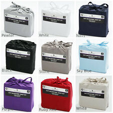 SOFT MICROFIBRE FITTED SHEET SET Single | King Single |Double |Queen | King Size
