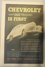 Chevrolet Promotion Ad from 1948 from Newspaper Magazine