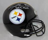 Hines Ward SB MVP Autographed Pittsburgh Steelers F/S Helmet- JSA W Auth *White
