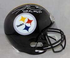 Hines Ward SB MVP Autographed Pittsburgh Steelers F/S Helmet- JSA W Auth *White