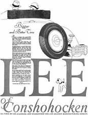 Lee Tire 1928 - Lee Tire Ad - Bigger and Better Tires - Lee of Conshohocken