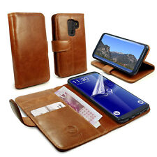 TUFF-LUV CUIR AUTHENTIQUE Folio Porte-feuille étui et Stand pour Galaxy S8
