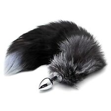 Funny False Fox Tail With Stainless Steel Plug Romance Game Toy Lover Gift