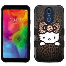 for LG Q7 / Q7 Plus, Hard+Rubber Rugged Cover Case Hello Kitty #H
