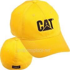Caterpillar Hats Men CAT Trademark Stretch Fit Logo Cap Cotton/Spandex Fitted