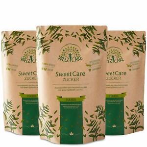 SweetCare PREMIUM Kristallzucker – 3 x 1kg - Zuckerersatz – 100% Vegan – keine K