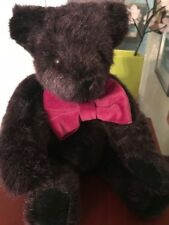 "Vermont Teddy Bear  Plum Purple 16"" jointed arms and legs"