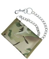 Mens Boys Childrens Camouflage British Army Style Wallet & Chain DPM MTP Green