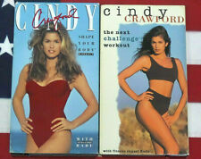 Cindy Crawford Shape Your Body &  The Next Challenge (VHS, Set) Workout Lot RARE