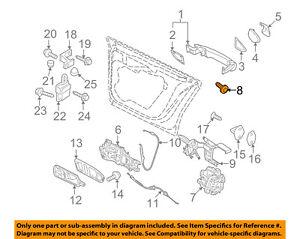 VW VOLKSWAGEN OEM 10-18 GTI Front Door-Lock Screw WHT005504