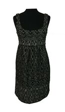ZARA Dress Size XS Black & Grey Pinafore L35in Office Wedding Evening Holiday