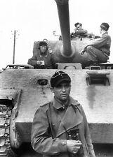 WW2 Photo WWII German Panther Tank Crew Panzer V World War Two Germany  / 2538