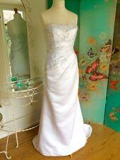 Pronovias W1 Blanco Vestido para Boda UK 16 (14). Vestido de muestra Excelente Estado.