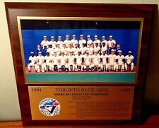 "1991 Toronto Blue Jays AL East ChampionsTeam Photo Plaque 12"" x 12"" New"