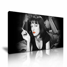 Mia Wallace Pulp Fiction de película clásicos tela pared arte Foto impresión 60x30cm