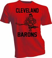 CLEVELAND BARONS DEFUNCT OLD TIME NHL HOCKEY RED T-SHIRT NEW Tee handmade 2