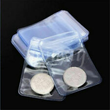5~50 PCS Clear PVC Protective Plastic Coin Wallets Storage Envelopes Case Bag