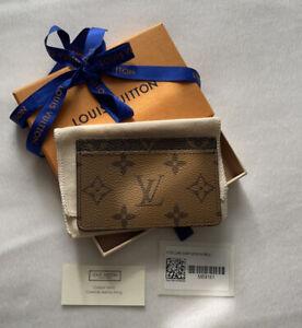 BNIB Louis Vuitton Reverse Monogram Card Holder Case M69161 Made in France