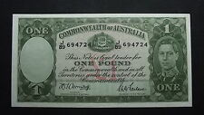 1942 Armitage/McFarlane One Pound Note aEF/EF Condition
