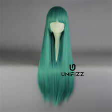 Lolita Mixed Green Long 80CM Straight Fashion Cosplay Wig with Bangs + Wig Cap