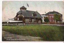 United States Lifesaving Station CHARLOTTE NEW YORK NY PM 1908 Postcard