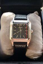 Reloj de pulsera siguiente para Hombre de Cuarzo clásico informal negocio Vintage Negro Correa De Cuero