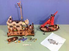 (O3112.8) playmobil lot pirates fortin ref 3112 + bateau ref 4444