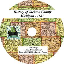 1881 History & Genealogy of Jackson County Michigan MI