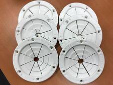 FISHING ROD HOLDER 6 PACK GROMMET WHITE POLE HOLDER 6685W 4 INCH OD ROD HOLDERS