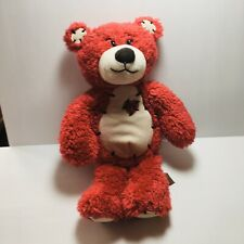 First & Main Teddy Bear 11in Red Fuzzy Plush  Valentine Heart #1415