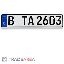 1 Standard Autokennzeichen | Nummernschilder Größe 520x110mm DIN-zertifiziert