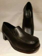 Hush Puppies Womens Sz 9 Work & Safety Black Leather Pumps Protective CSA Shoes