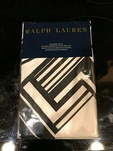 Ralph Lauren Ellington One Standard Pillow Sham Black & White Art Deco NEW