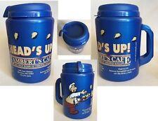 One Thermo Serv Lambert's Cafe Head's Up 52 oz Travel Mug Promotional Souvenir