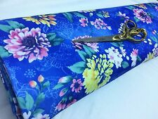 *NEW*Stretch Poly Viscose Jersey Floral 2 Dress/Craft/Curtain Fabric*FREE P&P*