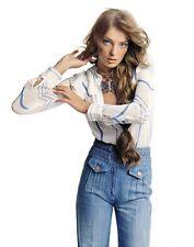 Chloe FAMOUS COLLECTOR'S Chloé High Waist Wide Leg Braided Blue Jeans 2 4 T38