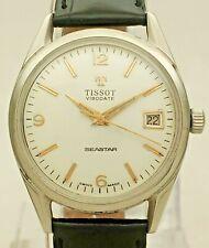 Vintage TISSOT VISODATE SEASTAR 41510-42510-2X 17J Hand Wind 782 SWISS Men Watch