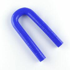 "ID 19mm 3/4"" 180 Degree U-Shape Bend Silicone Coupler Hose Turbo Pipe Tube Blue"