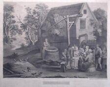 niederländische Dorfszene (Teniers), Lithographie 1816
