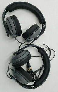 LOT OF 2 Plantronics Gaming Headset RIG 400 Blue & Black Camo x2 NO MICROPHONE