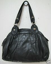 Vintage Lucky Brand Trinity Satchel Black tumbled lamb leather *GUC*