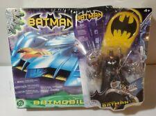 "2003 Mattel DC 20"" Batmobile / Robin Cycle + Bonus Batman Figure NEW SEALED"