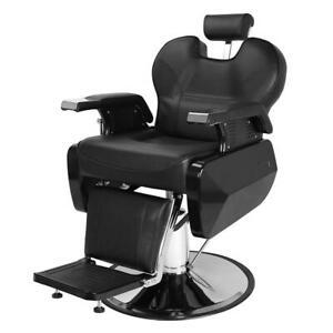 Reclining Barber Chair Salon Beauty Tattoo Shaving Hydraulic Heavy Duty Chair UK