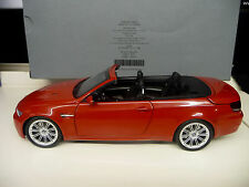 Kyosho 1:18 BMW M3 Convertible  E93 red  Dealer Edition SHIPPING FREE WORLDWIDE